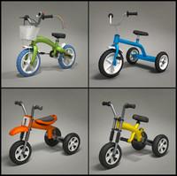 child bikes 3d model