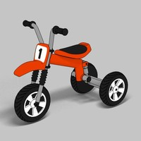 tricycle toon 3d max