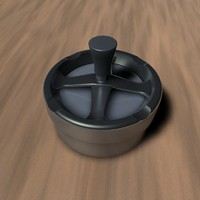 3ds max spinning ashtray