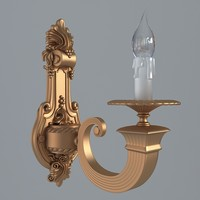 antiquarian sconce 3d model