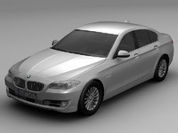 3d model 2010 bmw 5 series 1