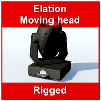 elation wash moving head 3d model