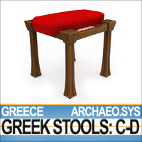 3d ancient greece stool c model