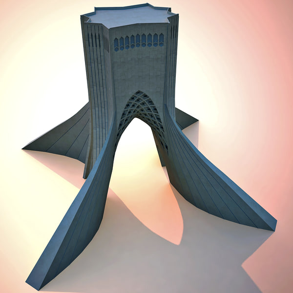Azadi Tower (Monument) - Amanat - Render