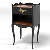 COLLECTION PIERRE MERCURY NIGHT STAND  TABLE CLASSIC  ART DECO FRENCH
