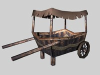 ma old wooden cart