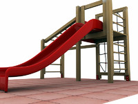 3d 3ds playground climbing slide