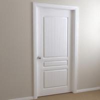 3d interior door - 3-panel model
