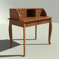 desk wood 3d model
