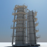 3ds max industrial silo 2x