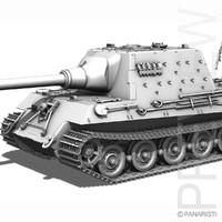 sd kfz 186 tiger ii c4d