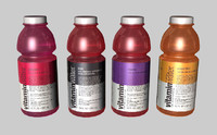 3d bottles vitamin water model