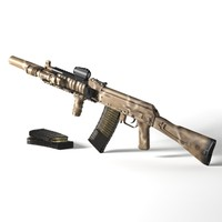 3d ak rifle custom assault model