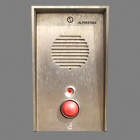 intercom weathered led 3d model