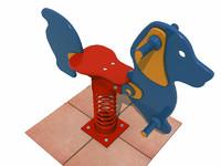 3d model spring rocking dog