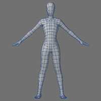 Low Poly Base Mesh-Female