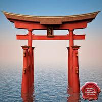 realistic torii gateway 3ds