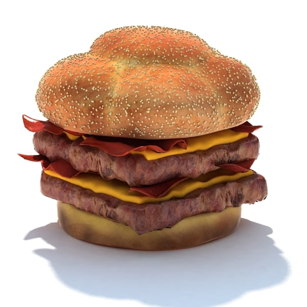 3d model baconator double
