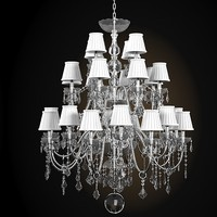 Bisazza Marie Antoinette Crystal Glass Starass Chandelier
