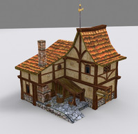 medieval fantasy blacksmith 3d max