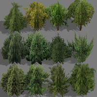 bushes polygons 3d 3ds