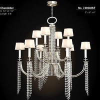 fine art lamp cascades chandelier classic crystal 749040st