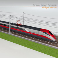 3ds etr500 frecciarossa speed train