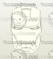 iron man pepakura helmet 3d model
