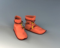 3ds max leather shoes old