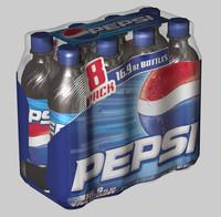 8 pack pepsi 3d model
