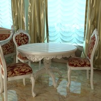 Baroque Style Table and Chairs