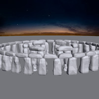 3d model historical stonehenge