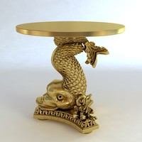 3d decorative table base fish
