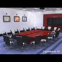 3ds pre-lit corporate conference room