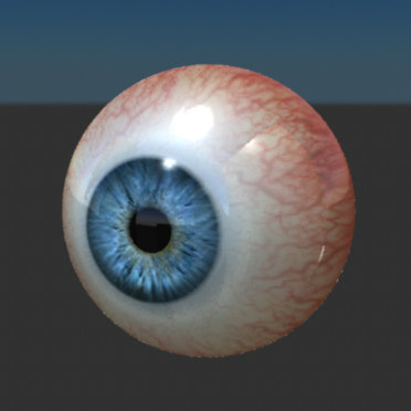 3ds max photo real movie eyeball human
