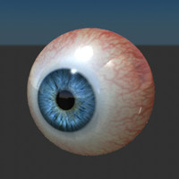 3ds max photo-real movie eyeball human