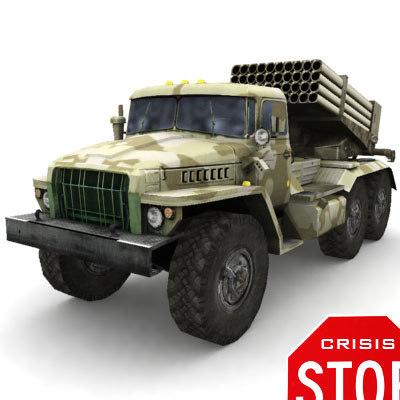 Grad ural 4320 Russian MLRS