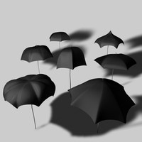 Cartoon Umbrellas