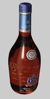 bottle e j brandy dxf