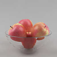 Apples & glass vase_06