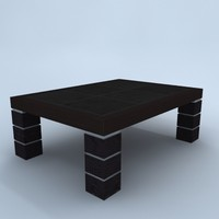 3d leather occasional table