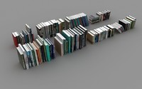books pillows 3d max