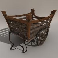 historic cart 3d model