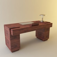 3d desk lamp deco model