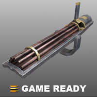 Low Poly - Gatling Gun
