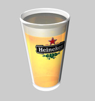 glass heineken beer 3d model
