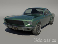 67 gt390 fastback 3d model