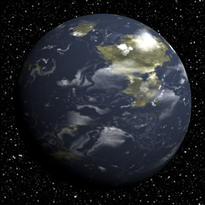 3d 10 earth planets model