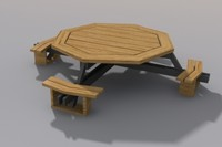 Picnic table, octagonal