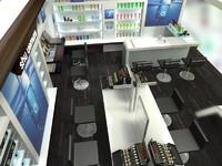 3ds max shu uemura interior shop